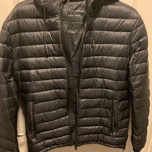 Zara Puffer Coat with Hood